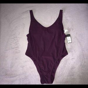 Plum 'Baywatch' cut Swimsuit (M)